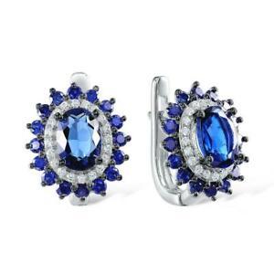 【送料無料】アクセサリー ネックレス スターリングシルバーイヤリングロボsunlike blu gemma autentico argento sterling 925 orecchini a lobo s01
