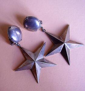 【送料無料】アクセサリー ネックレス クリップ2227 boucles doreilles clips etoiles metal argente