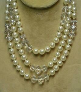 【送料無料】アクセサリー ネックレス ジョアンリバースkゴールドパールビーズjoan fiumi amp; 14k oro di ep annodati a mano 10mm perla amp; trasparente perlina 50