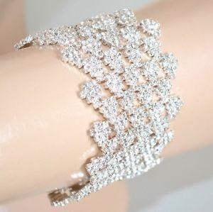 【送料無料】アクセサリー ネックレス bracciale argento donna cristalli strass sposa elegante cerimonia bracelet 1105