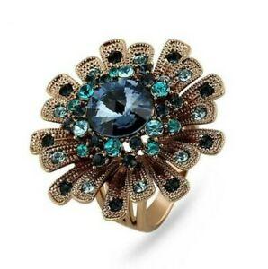 【送料無料】アクセサリー ネックレス チタニウムaffascinante fuoco dartificio fiore titanio placcato oro lusso anello k02