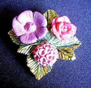 【送料無料】アクセサリー ネックレス 474  broche signee fvolle fleurs resine