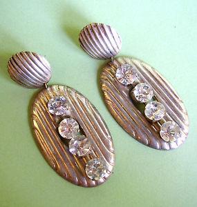 【送料無料】アクセサリー ネックレス クリップ688 boucles doreille clips metal et strass