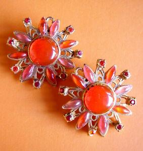 【送料無料】アクセサリー ネックレス クリップw8 boucles doreilles clips metal et resine