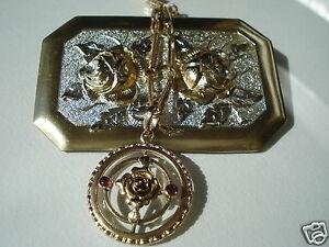 【送料無料】アクセサリー ネックレス tres joli lot de bijoux anciensmotif rosebrochependentif