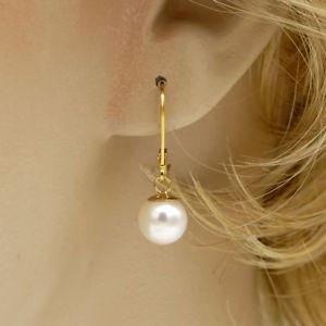 【送料無料】アクセサリー ネックレス イヤリングkゴールドclienti abituali prezzo 8mm sc perle neve bianco orecchini ygf 14k oro 585