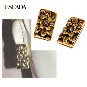 【送料無料】アクセサリー ネックレス クリップイヤリングescada boucles doreilles clips couleur or fleur bijou earring