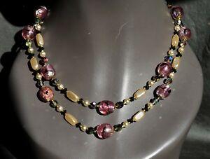 【送料無料】アクセサリー ネックレス ビンテージコリアドムラーノvintage collier 2 rangs de perles verre de murano