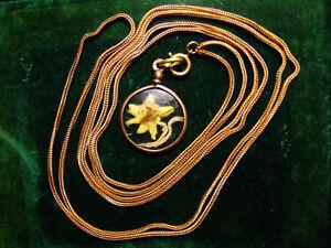 【送料無料】アクセサリー ネックレス ポルトエーデルワイスsautoir ancien laiton dor maille tresse pendentif portephoto edelweiss 1418