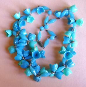 【送料無料】アクセサリー ネックレス j188  collier fleurettes en veritable plastique