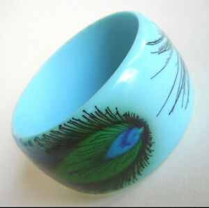 【送料無料】アクセサリー ネックレス ブレスレットfd1  bracelet plumes de paon en resine