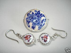 【送料無料】アクセサリー ネックレス プチアルジェントボbelle petite broche ancienne en argent et porcelainebo ceramique