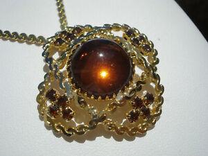 【送料無料】アクセサリー ネックレス ボーメタルドールパテbeau collier ancien en metal dorepate de verre et strass