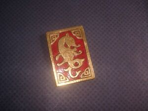 【送料無料】アクセサリー ネックレス クリップブロンズドーレドラゴンclip de revers bronze dor mail dragon