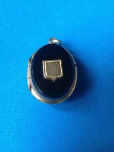 【送料無料】アクセサリー ネックレス オニキスペンダントancien pendentif onyx amp; plaqu or mourning pendant