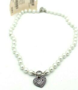 【送料無料】アクセサリー ネックレス トレーラーネックレスcollana perle con cuore rimorchio lunghezza ca 49 cm c
