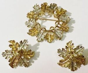 bijou boucles sarahcov 【送料無料】アクセサリー 4122 ビンテージサラクリップアージェントparure couleur argent ネックレス or broche vintage clips sign