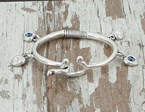 【送料無料】アクセサリー ネックレス pulsera swarovski y zamak, boho silver cuff bracelet 50 16