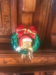 【送料無料】アクセサリー ネックレス クリスマスサンタテディブローチテディクリスマスrare christmas wreath santa teddy bear brooch orsacchiotto natale signed lia