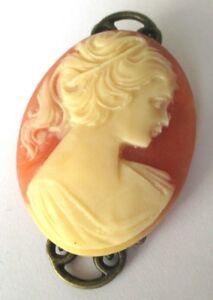 送料無料 アクセサリー ネックレス ビンテージデファムベージュbroche bijou vintage couleur or came buste de femme en rsine corail beige 2222dQhtrs