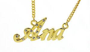 【送料無料】アクセサリー ネックレス ゴールドメッキネックレスアナクリスマスカスタム18k oro placcato collana con nome ananatale regalo personalizzato per la sua