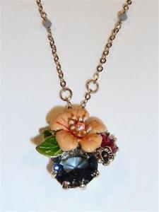 【送料無料】アクセサリー ネックレス エナメルフラワーネックレスcg2571 bellissima collana con fiore smaltatospedizione gratis in uk