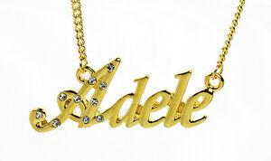 【送料無料】アクセサリー ネックレス ゴールドクリスマスネックレス18k oro placcato collana con nome adeleanniversario love targhetta nome natale