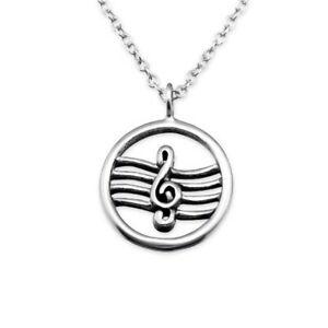 【送料無料】アクセサリー ネックレス チェーンキーノートシルバーネックレスcatena note chiave argento 925 collana per donna donne ragazza musica music