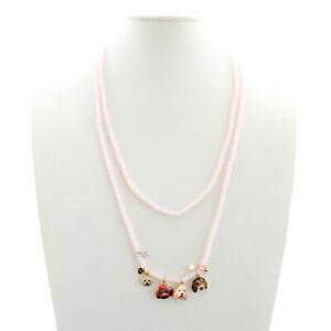 【送料無料】アクセサリー ネックレス ネックレスドルマンピンクcollana elastica rosa con charms di cani  dolman bijoux
