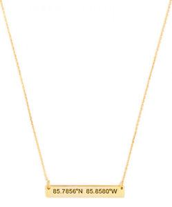 【送料無料】アクセサリー ネックレス カスタマイズネックレスpersonalizzati latitude, longitudine coordinare collana in argento placcato oro