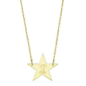 【送料無料】アクセサリー ネックレス カスタマイズイエローゴールドディスクネックレスペンダントpersonalizzati 34 stella disco collana ciondolo in oro giallo placcato argento