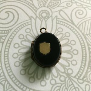 【送料無料】アクセサリー ネックレス ドアオニキスノワールメダイヨンmdaillon xixe pendentif porte photos onyx noir blason old medallion 19thc