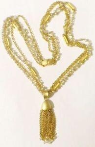 【送料無料】アクセサリー ネックレス コリアービンテージcollier bijou vintage 4 rangs chaine pendentif pompon chainette couleur or *4032