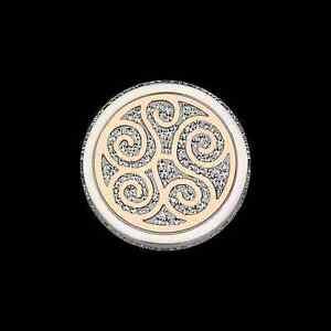 【送料無料】アクセサリー ネックレス ステンレススチールガラスフレームワークペンダントコインcoin cs289 di cem per 25 mm ciondolo in acciaio inox quadro vetro ros