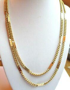 【送料無料】アクセサリー ネックレス グランドレアヴィンテージgrand rare collier sautoir chane pleine 1 mtre couleur or bijou vintage 4453