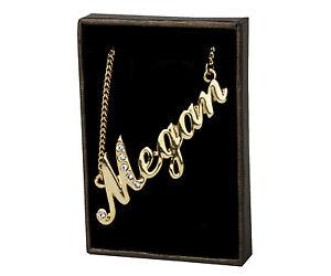 【送料無料】アクセサリー ネックレス ネックレスクリスマスnome collana megan 18ct placcato oronatale personalizzatoregalo di fidanzamento