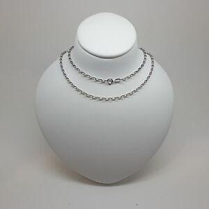 【送料無料】ネックレス ベルチャーチェーンドルmiran 150070 9k 375 white oval belcher chain 45cm rrp 420