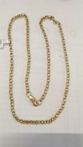 【送料無料】ネックレス ゴールドベルチャーチェーン9ct gold belcher chain