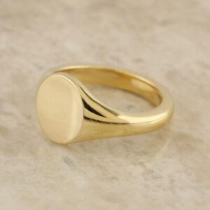 ネックレス ビンテージイエローゴールドサイズvintage oval signet ring 9ct yellow gold size p
