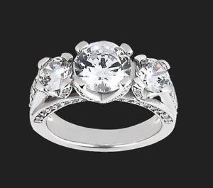 【送料無料】ネックレス ラウンドアンティークカットホワイトゴールド125 ct moissanite three stone round cut antique engagement ring 9k white gold