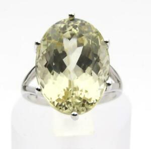 【送料無料】ネックレス イエローホワイトゴールドリングサイズrare 1200ct 18x13 yellow kunzite spodumene 9ct white gold ring size n uk hmark