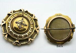 【送料無料】ネックレス ビクトリアゴールドラウンドファンシーブローチvictorian gold round fancy memento brooch