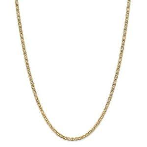 ネックレス イエローゴールドセミソリッドアンカーチェーンロブスタークラスプ14k yellow gold 32mm semi solid anchor chain w lobster clasp 16  24