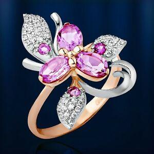 【 開梱 設置?無料 】 【送料無料】ネックレス ロシアソリッドローズゴールドアメジストフラワーリングrussian solid rose gold 585 14ct amethyst czs flower ring nwt beautiful, やまちゃんふぁーむ 312b5ea6