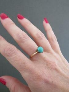 高い品質 【送料無料】ネックレス ヴィンテージゴールドターコイズリングvintage 9ct gold turquoise ring, ジーナスタイル a79d8284