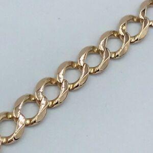ネックレス レディースレディースイエローゴールドチェーンブレスレット#quality ladies womens 9ct yellow gold curb chain bracelet 374