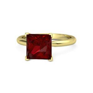【送料無料】ネックレス プリンセスカットkイエローゴールドルビーレディースリングサイズ250 ct princess cut 14k yellow gold ruby gemstone womens rings size n m j k l o