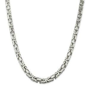 【送料無料】ネックレス シルバーソリッドビザンチンチェーンロブスタークラスプ listingsterling silver solid 825mm square byzantine chain w lobster clasp 20 24