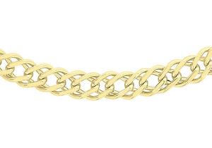 【送料無料】ネックレス 9ctイェローゴールド060246cm189ct yellow gold 060 double curb chain 46cm18