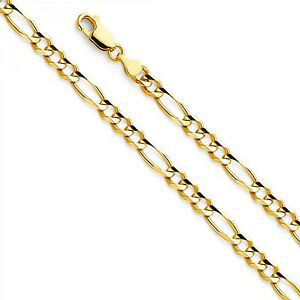 【送料無料】ネックレス 14k45mmフィガロチェーン24ejcn3560314k 45mm gold figaro chain 24 ejcn35603